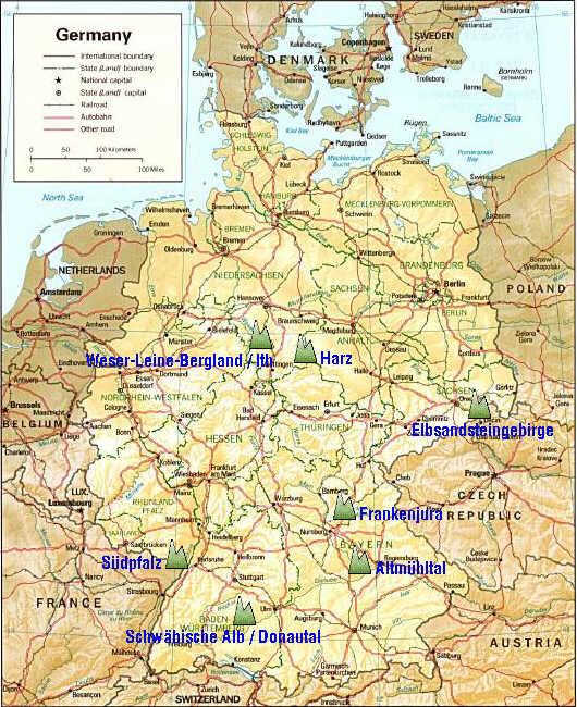 klettergebiete deutschland karte on sight   Wohin zum Klettern?